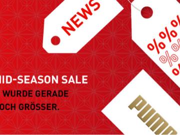 Bis zu 50 % Rabatt im Mid-Season Sale bei PUMA