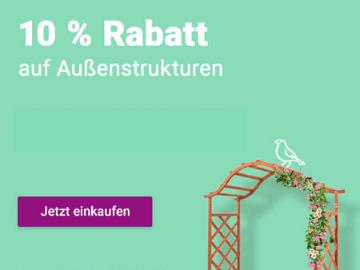 vidaXL Gartenseason Gutschein: 10 % Rabatt auf Außenstrukturen